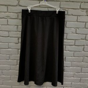 Dana Buchman Black High-Waisted Circle Skirt XL